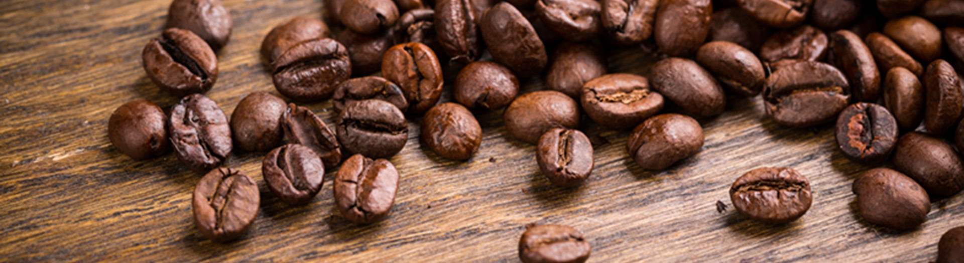 Website header coffee beans visual